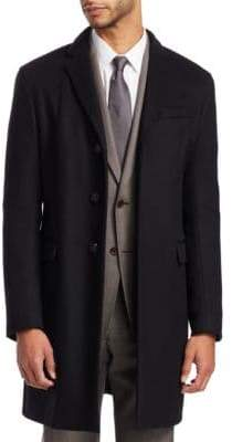 Emporio Armani Men's Wool Cashmere Top Coat - Black - Size 52 (42) R