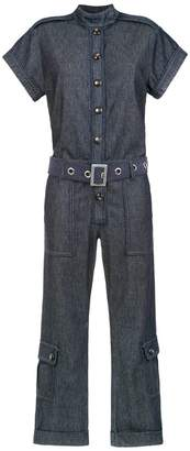 Andrea Bogosian belted denim jumpsuit