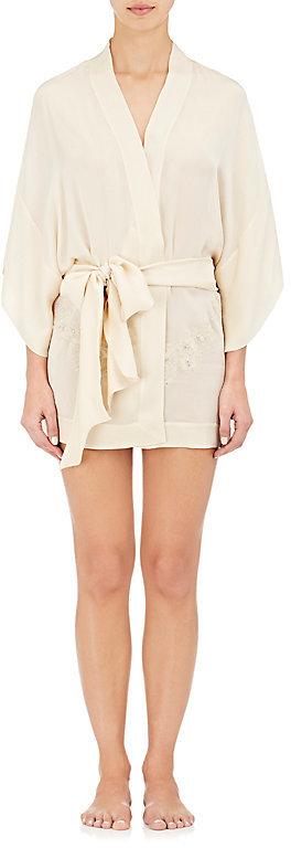 Carine GilsonCarine Gilson Women's Lace-Trimmed Silk Kimono Robe
