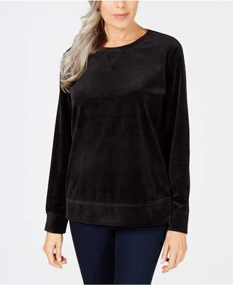 Karen Scott Velour Sweatshirt