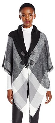 Collection XIIX Women's Brushed Plaid Ruana with Closure $11.40 thestylecure.com