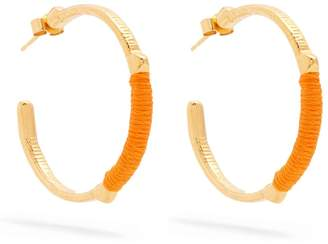 MARTE FRISNES Dido embroidered hoop earrings