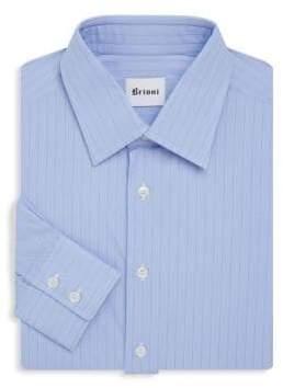 Brioni Pinstripe Cotton Dress Shirt