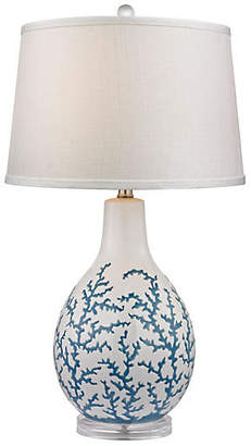 One Kings Lane Coral Table Lamp - Blue