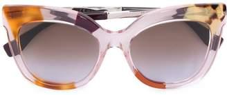 Fendi Eyewear clear frame sunglasses