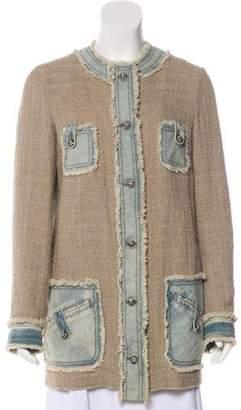 Dolce & Gabbana Fringe-Trimmed Button-Up Jacket