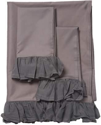 BOHO BED Voile Ruffle Cotton Sheet Set