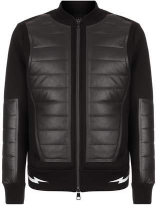 Neil Barrett Ribbed Panel Bomber Jacket
