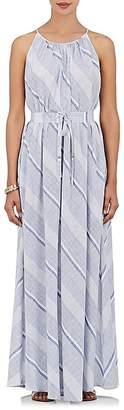 Barneys New York WOMEN'S STRIPED COTTON MAXI DRESS