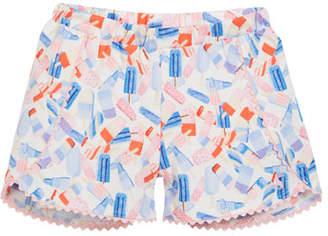 Joules Popsicle-Print Cotton Shorts, Size 3-6