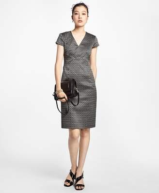 Art Deco Geo-Jacquard Dress $398 thestylecure.com