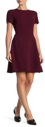 Theory Modern Seamed Shift Short Sleeve Dress