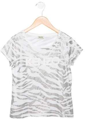Kenzo Girls' Graphic Print Top