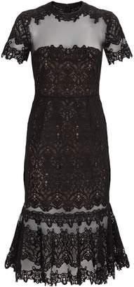 Jonathan Simkhai Lace Fishtail Midi Dress