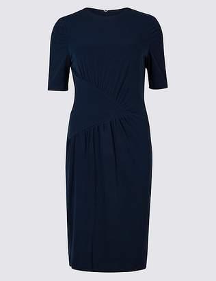 Marks and Spencer Drape Jersey Half Sleeve Bodycon Dress