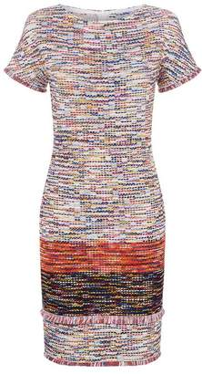 St. John Multicoloured Tweed Mini Dress