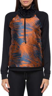 Koral Activewear Roulette Funnel-Neck Printed Sweatshirt