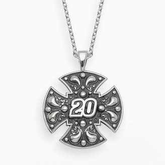 "Insignia Collection NASCAR Matt Kenseth Sterling Silver ""20"" Maltese Cross Pendant"