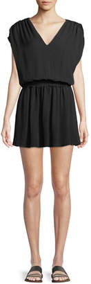 Ramy Brook Perrie V-Neck Silk Mini Dress