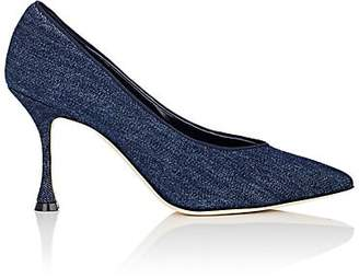 Manolo Blahnik Women's Urgenzapla Denim Pumps - Denim Fabric