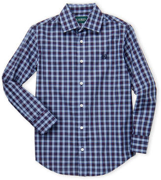 Lauren Ralph Lauren Boys 8-20) Blue Plaid Dress Shirt