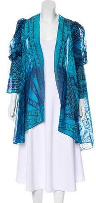 Zandra Rhodes Silk Printed Robe