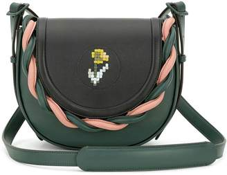 Marco De Vincenzo embroided flower crossbody bag