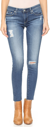 AG Raw Hem Legging Ankle Jeans $235 thestylecure.com