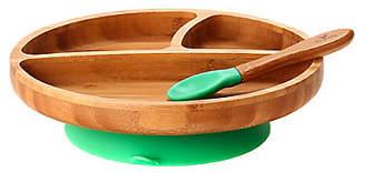 [Avanchy] 竹のプレートワイド+スプーンセット