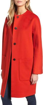 Fleurette Collarless Loro Piana Wool Coat