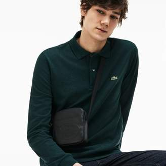 Lacoste Men's L.12.12 Casual Embossed Lettering Vertical Leather Bag
