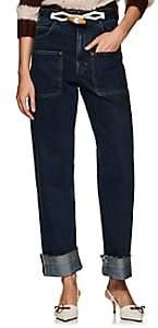 J.W.Anderson Women's Selvedge-Denim Wide-Leg Jeans - Indigo