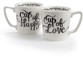 Nordstrom Cup of Happy/Cup of Love Set of 2 Mugs
