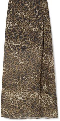 Nili Lotan Ella Leopard-print Silk-chiffon Maxi Skirt