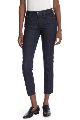 Joe's Jeans Solid Mid Rise Raw Ankle Straight Leg Jeans