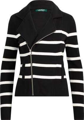 Lauren Ralph Lauren Ralph Lauren Striped Cotton Full-Zip Jacket