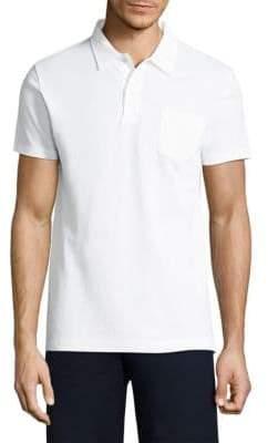Sunspel Textured Cotton Polo