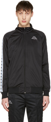 Kappa Black Banda Aniston Track Jacket $100 thestylecure.com