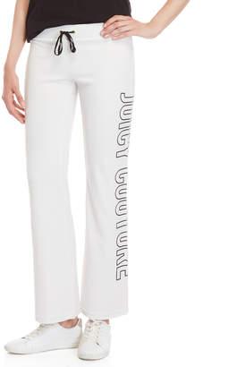 Juicy Couture White Del Rey Velour Sweatpants