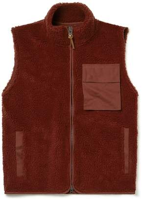 8b1cdceb9ff27 Albam Clothing SS19 Combat Fleece Gilet Burgundy