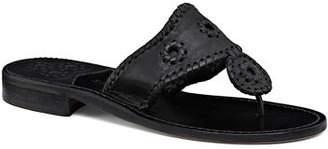 Jack Rogers Jacks Leather Flat Slide Sandals