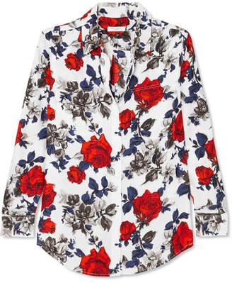 Equipment Signature Floral-print Silk Crepe De Chine Shirt