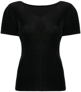 Pleats Please Issey Miyake pleated short sleeve top
