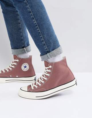 Chuck Taylor All Star '70 Hi Plimsolls In Pink 159623c