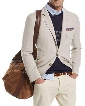 Brunello Cucinelli Three-Button Wool-Blend Sport Jacket