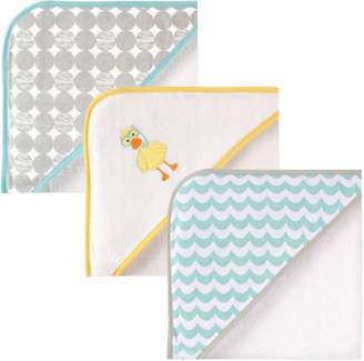 """Luvable Friends 3 Piece Hooded Towels, 30""""X30"""""""