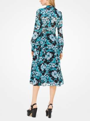MICHAEL Michael Kors Floral Chiffon Shirtdress