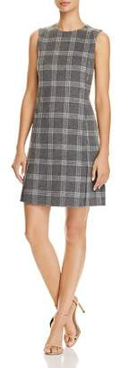 Theory Vented Plaid Dress