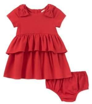 Kate Spade Baby Girl's Two-Piece Peplum Waist Dress and Panty Set