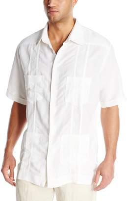dfc7fb9675 Cubavera Cuba Vera Men s Big-Tall Short Sleeve Embroidered Ramie